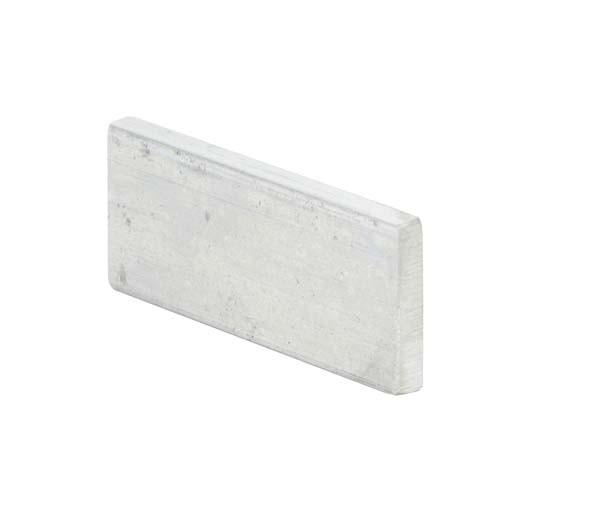 5 plaquettes aluminium (60x25 mm) pour collage d'échantillons