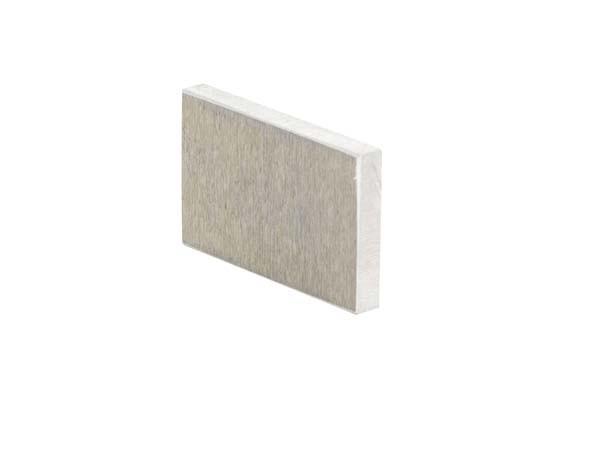 5 plaquettes aluminium (40x25 mm) pour collage d'échantillons
