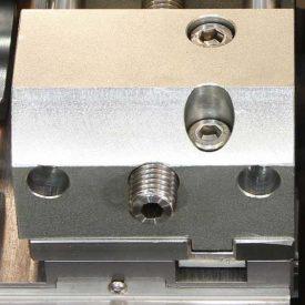 Etau gauche à serrage à vis hauteur 45 mm